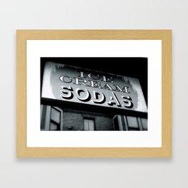 Ice Cream Sodas Framed Art Print