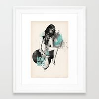 aquarius Framed Art Prints featuring Aquarius by Carolina Espinosa