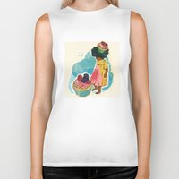 sprinkles Biker Tanks featuring Sprinkles on her Cupcake by Carina Crenshaw