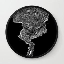 Lava Tree Negative Wall Clock