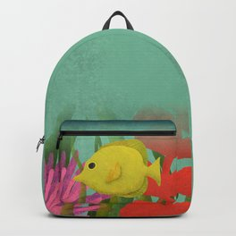 Yellow Fish In The Ocean Backpack