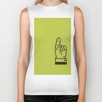lime green Biker Tanks featuring Direction Lime Green by Claire Doherty
