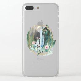 cactus garden Clear iPhone Case