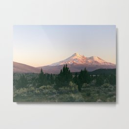 Mt. Shasta at Sunset Metal Print