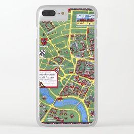 HARVARD University map CAMBRIDGE Clear iPhone Case
