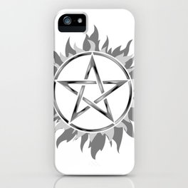 Possession shooting star star tattoo star sky hand draw iPhone Case