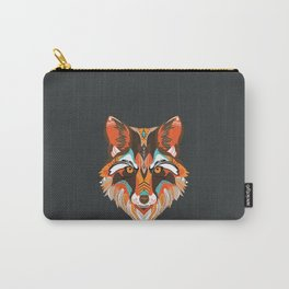 Cool native american wolf Carry-All Pouch
