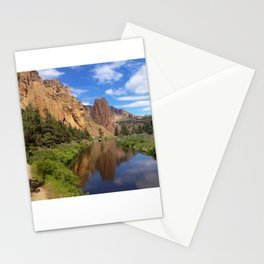 Smith Rock in Sun Stationery Cards
