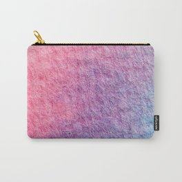 Pink and Turquoise Watercolor Pattern Carry-All Pouch