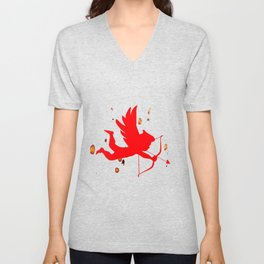 Cupid With Bow And Arrow Unisex V-Neck