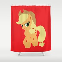 mlp Shower Curtains featuring Applejack by Adrian Mentus