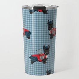 Scottish Terrier dog breed custom pet portrait funny dog pattern dog gifts all breeds Travel Mug