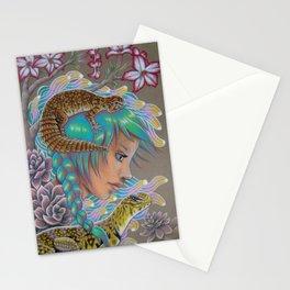 Desert Rose,Uromasyx Lizard Art Stationery Cards