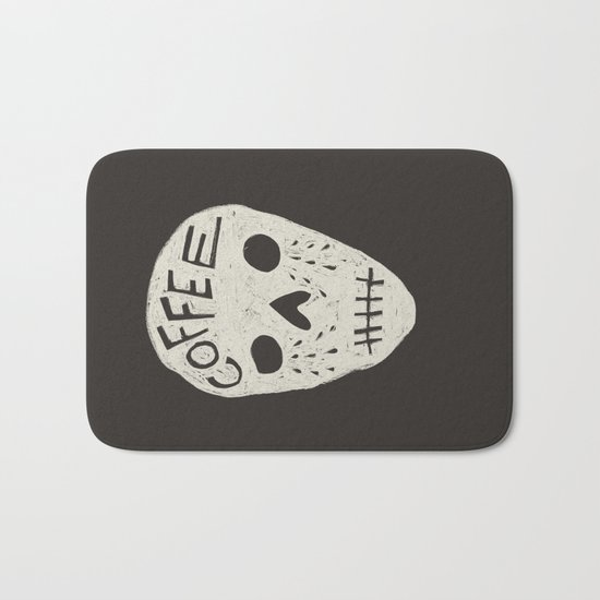 COFFEE DEATH Bath Mat