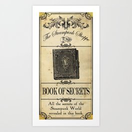 Steampunk Apothecary Shoppe - Book of Secrets Art Print