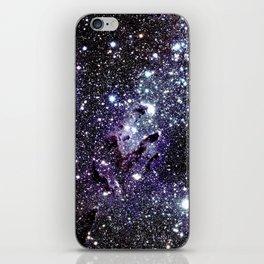 The Eagle Nebula : Pillars of Creation Deep Dark Blues & Purples iPhone Skin