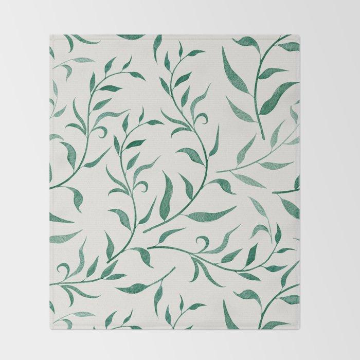 Leaves 4 Throw Blanket