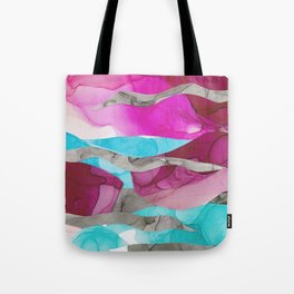 Our Love Is, Ink Abstract Tote Bag
