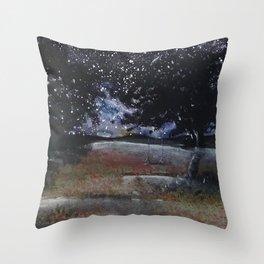 Summer Night Throw Pillow