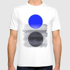 Blue #Planet MEDIUM Mens Fitted Tee White