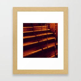 stairway to gold Framed Art Print