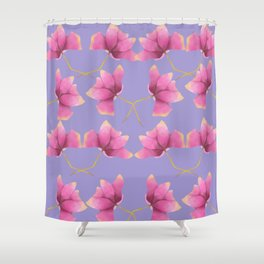 Royal lilac pink Shower Curtain
