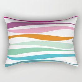 rainbow colorful waves no.1 Rectangular Pillow
