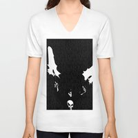 punisher V-neck T-shirts featuring The Punisher by Rob O'Connor