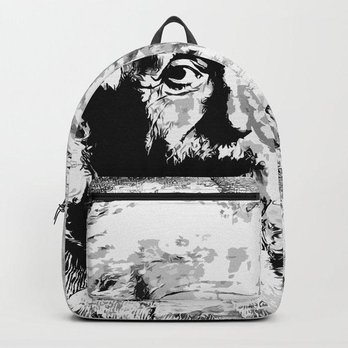 Albert Einstein - schwarz-weiß Rucksack