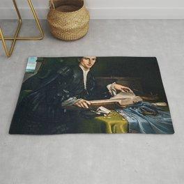 Lorenzo Lotto - Portrait of a gentleman in his studio Rug