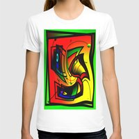 frames T-shirts featuring Mysterious frames II by Horacio Moschini