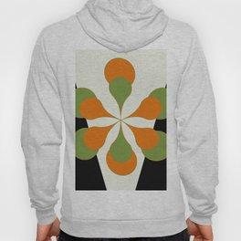 Mid-Century Modern Art 1.4 - Green & Orange Flower Hoody