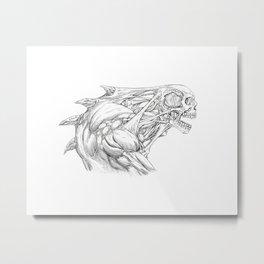 Skull Creature Metal Print