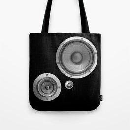 Subwoofer Speaker on black Tote Bag