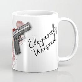Elegantly Wasted: Gun & Spilled Wine Coffee Mug
