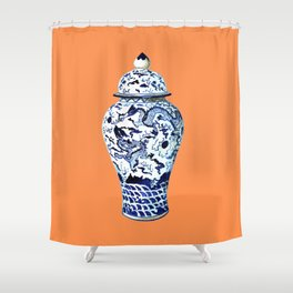 GINGER JAR NO 7 TANGERINE Shower Curtain