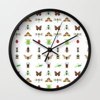 insects Wall Clocks featuring insects by Alysha Dawn