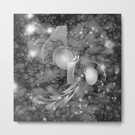 Alien life forms in chaotic space Metal Print