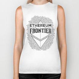 Ethereum Frontier (black on orange) Biker Tank