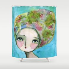 The Muse Of Spring Shower Curtain