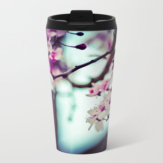 cherry blossom Metal Travel Mug