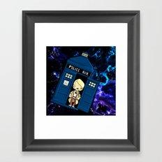 Tardis in space Doctor Who 5 Framed Art Print