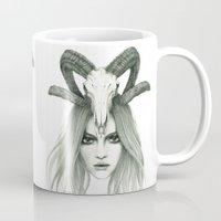 zodiac Mugs featuring Zodiac - Aries by Simona Borstnar