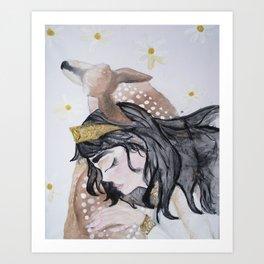 The Fawn Princess Art Print