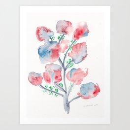 21  | Loose Watercolor Flower | 191015 Art Print