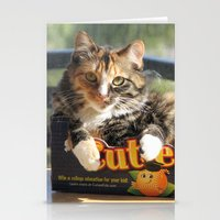 death cab for cutie Stationery Cards featuring Cutie by Cats in Boxes