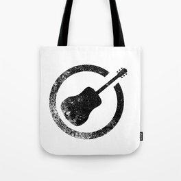 Acoustic Guitar Ink Stamp Tote Bag