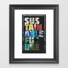 Sustainable Future Framed Art Print