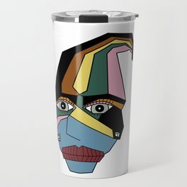 Woman in Hat Travel Mug