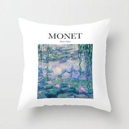 Monet - Water Lilies Throw Pillow